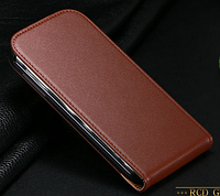 Кожаный чехол флип для Samsung Galaxy S4 i9500 коричневый
