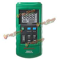MASTECH ms6514 двухканальный цифровой термометр регистратор температуры тестер