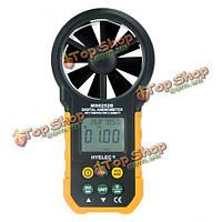 Hyelec тест метр ms6252b скорость ветра нескольких цифровых анемометр тахометр термометр
