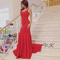Платье вечернее с украшением