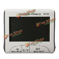Цифровой ЖК крытый открытый термометр гигрометр измеритель влажности С/Ф