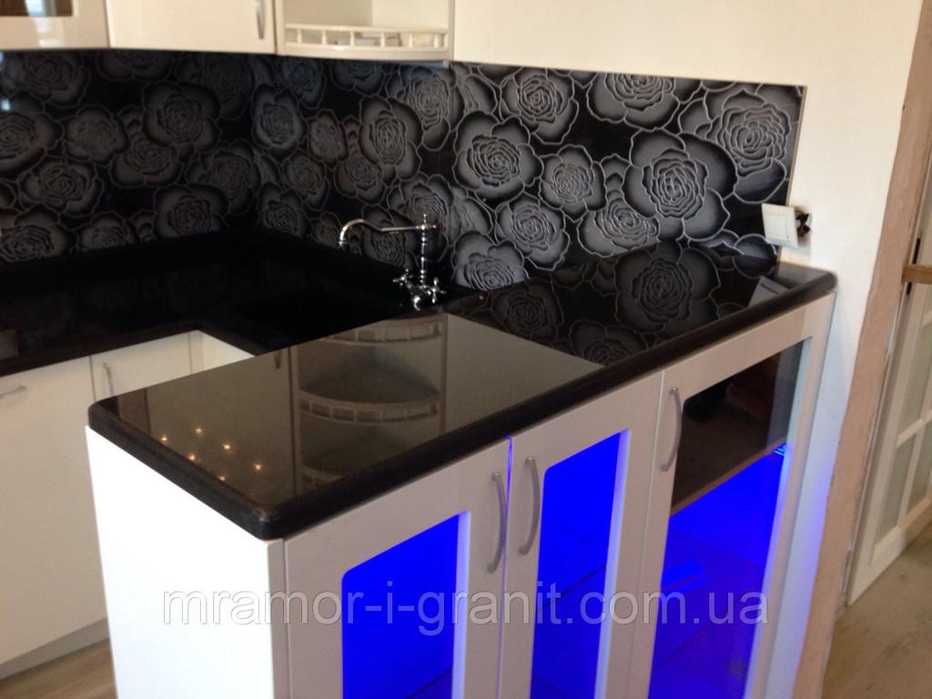Кухонная столешница из черного гранита 4