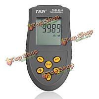 Таси-8740 бесконтактный ЖК-цифровой лазерный тахометр об / мин датчик скорости