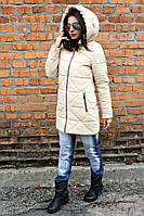 Куртка-парка женская Полина бежевый (42-52) 48