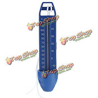 Синий спа плавающей бассейн горячая ванна температура ванны термометр со строкой