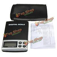 500 0.1g ЖК электронной цифровой Mini карманные весы ювелирные изделия баланс веса масштаб