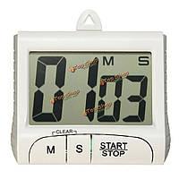 Цифровой ЖК-электронный таймер секундомер обратного отсчета отсчет магнитного