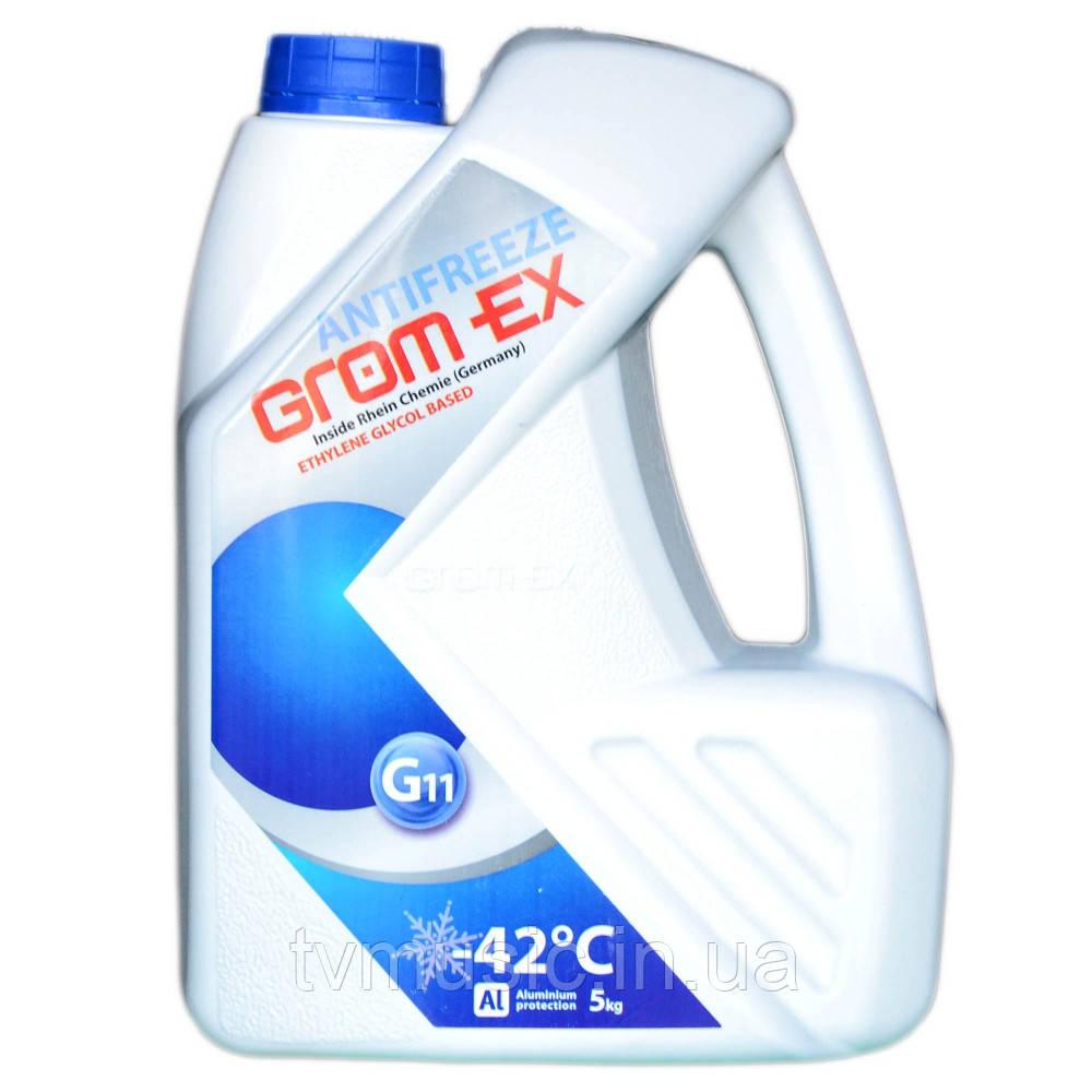 Антифриз Grom Ex -42°С G11 синий 5 кг