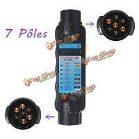 12v тестер розетка кабельной проводки цепи 7 контактный разъем для автомобиля с прицепом фонари