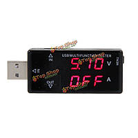 Цифровой дисплей USB многофункциональный тестер 3v-30v мини-тестер тока мощность зарядного напряжения с максимальной токовой защиты перенап