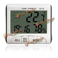 ЖК-цифровой термометр гигрометр измеритель температуры и влажности часы