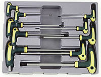 Набор ключей 6-гр. (HEX) Г-обр. с шаром 10 пр. (2-12 мм) FORCE 5106B