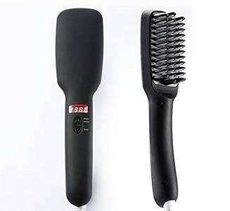 Гребінець-випрямляч для волосся 2 в 1 PTC Heating Ionic Hair Straightener Brush