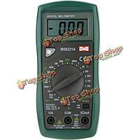 MASTECH MS8221A цифровой мультиметр AC/DC вольтметр частота тока Тестер сопротивления с тестовым диод транзистора HFE тест