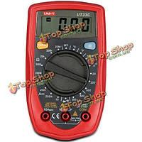 UNI-T UT33c Palm размера цифровых портативных мультиметр Dмм DC кондиционеры амперметр вольтметр ом тестер