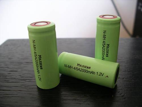 Молния 4/5A,(аналог211AFH) 2000mAh аккумулятор 1шт