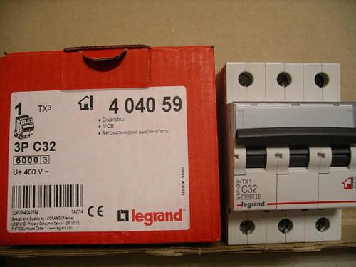 Legrand Автомат. выключатель TXC32А-3Полюса 6 кА