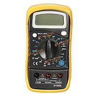 DT850L цифровой ЖК-мультиметр Вольтметр Амперметр омметра емкости вольт тестер
