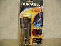 Duracell led traveller фонарь светодиодный, метал.