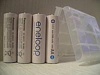 Panasonic Eneloop 2000mAh,аккумулятор, 4штуки+кейс