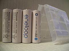 Аккумулятор Panasonic Eneloop 2000mAh, 4штуки+кейс
