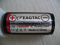 EagleTac 16340/RCR123A Li-ion аккумул.3,7V,750mAh