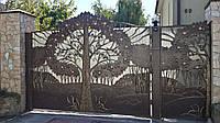 Кованые ворота(Дерево)
