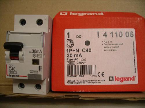 Legrand Авт.выключатель АВДТ DX С10А,1П+Н,AС-30мА