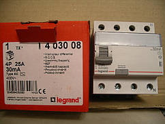 Legrand Выключатель Дифференциального тока TX-4П-25А-AC-30 мА-4 модуля