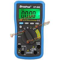 HoldPeak HP-90e цифровой автоматический диапазон Dмм мультиметра постоянного тока ампер вольт Ом FREQ крышка измеритель температуры батареи тест