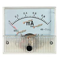 DC 0-1ma аналоговый усилитель измерительный прибор измерения амперметра ток панели с помощью винтов белых