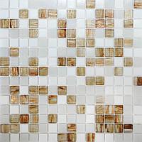 Мозаика для кухонного фартука авантюрин Vivacer GLmix43
