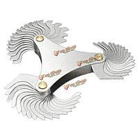 51 лезвия метрический 60° резьбомер Gage шаг винта ункции 4-84 измерительный инструмент