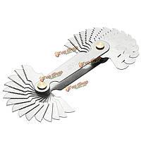30 лезвий метрическая 60° резьбомер шаг винта ункции 4-62 измерительный инструмент