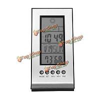 Крытый открытый беспроводная погодная станция термометр ежедневно часы звуковым сигналом прогноз календарь
