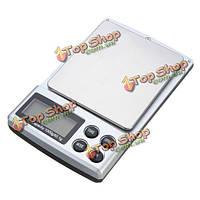 Портативный мини 1000г 0.1g ЖК-дисплей цифровой карман электронные весы