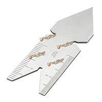 60°-дюйма метрическая резьба шагомер центр Gage измерительный инструмент токарный станок