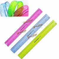 12-дюймов 30см супер гибкий правило правитель измерительный инструмент канцелярские для офиса школы