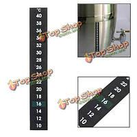 Жидкокристаллический термометр для брожения пива доморощенного виноделия 10-40 степень