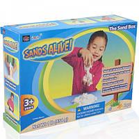 Набор для творчества Sands Alive! УЧИМСЯ ЛЕПИТЬ песок 454 г, лопатка (25000-SA)