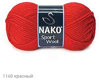 Пряжа Полушерстяная Nako Sport Wool 1140 для Ручного Вязания