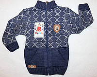 Детская одежда оптом Теплая  вязанная кофта  на мальчика   Турция 1,2,3 года