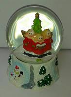 Новогодний шар со снегом (9х6,5х6,5 см), фото 1
