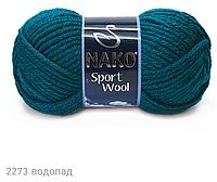 Пряжа Полушерстяная Nako Sport Wool 2273 для Ручного Вязания