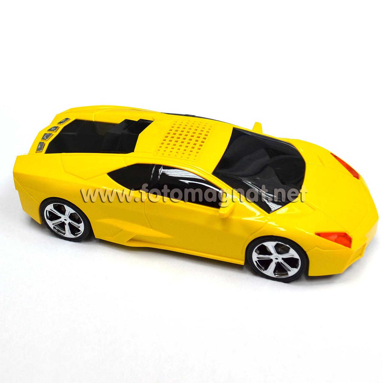 Портативная mp3 колонка жёлтая (портативная usb колонка) 5081 Lamborgini