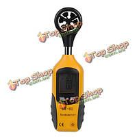 ХТ-81 ЖК-дисплей карманный цифровой анемометр скорость ветра измерить и термометром