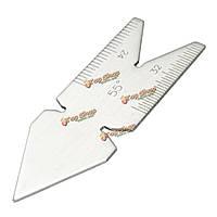 55° центр калибра метрический винт резки шаг резьбы измерения токарного инструмента