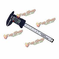 100мм 4-дюйма ЖК-цифровой электронный углеродного волокна штангенциркуль микрометр линейка калибровочных