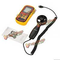 Gm8901 портативный ЖК-цифровой анемометр скорость ветра измеритель скорости воздуха температура воздуха метр тестер для измерения 0 ~