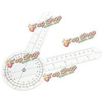 Физио прозрачный пластик гониометра угол правителя совместное изгиб измерения мера